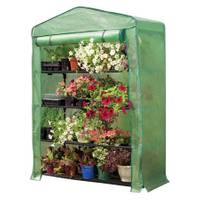Gardman Indoor/Outdoor Extra Wide 4-Tier Greenhouse with Reinforced Cover from Blain's Farm and Fleet