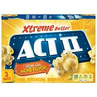 ACT II Xtreme Butter Microwave Popcorn 3 Pack from Blain's Farm and Fleet