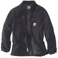 Carhartt Men's Black Arctic Quilt Lined Duck Traditional Coat from Blain's Farm and Fleet