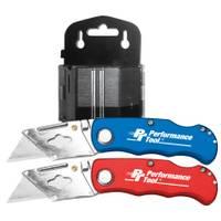 Performance Tool 52 Piece Folding LB Utility Knife from Blain's Farm and Fleet