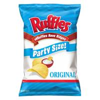 Ruffles Party Size Potato Chips from Blain's Farm and Fleet