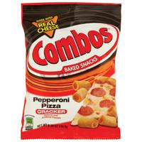 Combos Pepperoni Pizza Cracker Snacks from Blain's Farm and Fleet