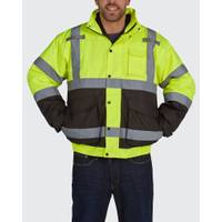 Utility Pro Men's Hi Vis Class 3 Bomber Jacket with Removable Fleece Jacket from Blain's Farm and Fleet