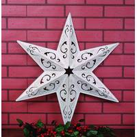 Transpac Imports Inc. Filigree White Star Wall Decor from Blain's Farm and Fleet