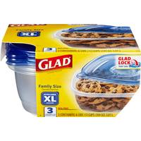 Glad Square Family Size Container from Blain's Farm and Fleet
