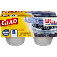 Glad Mini Round Containers from Blain's Farm and Fleet