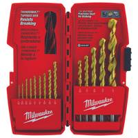 Milwaukee Thunderbolt Titanium Coated Drill Bits 14 Piece from Blain's Farm and Fleet