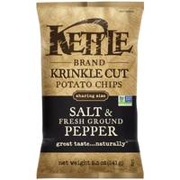 Kettle Brand Salt & Fresh Ground Pepper Krinkle Cut Potato Chips from Blain's Farm and Fleet