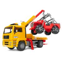 Bruder MAN TGA Tow Truck & Cross Country Vehicle from Blain's Farm and Fleet