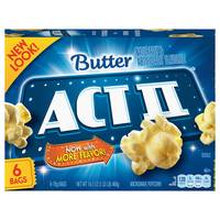 ACT II 6 Pack Microwave Popcorn from Blain's Farm and Fleet