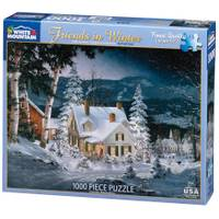 White Mountain Puzzles 1000-Piece Cozy Christmas Cat Jigsaw Puzzle from Blain's Farm and Fleet