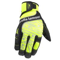 Wells Lamont Men's Performance High Visibility Work Gloves from Blain's Farm and Fleet