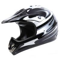 Eight One Eight Adult Black & Silver Motocross Helmet from Blain's Farm and Fleet