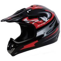 Eight One Eight Adult Black & Red Motocross Helmet from Blain's Farm and Fleet