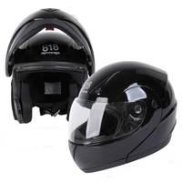 Eight One Eight Adult Black Modular Full Face Motorcycle Helmet from Blain's Farm and Fleet