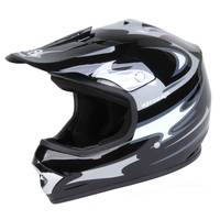 Eight One Eight Youth Large Black & Silver Motocross Helmet from Blain's Farm and Fleet