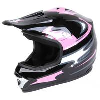 Eight One Eight Youth Large Black & Pink Motocross Helmet from Blain's Farm and Fleet