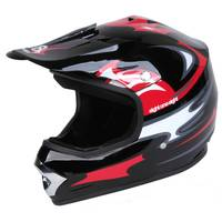 Eight One Eight Youth Large Black & Red Motocross Helmet from Blain's Farm and Fleet