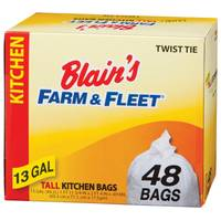 Blain's Farm & Fleet 13 Gallon Tall Kitchen Bags with Twist Ties from Blain's Farm and Fleet