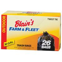 Blain's Farm & Fleet 30 Gallon Trash Bags with Twist Ties from Blain's Farm and Fleet