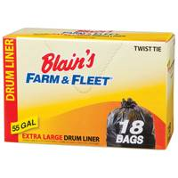 Blain's Farm & Fleet 55 Gallon Drum Liners with Twist Ties from Blain's Farm and Fleet