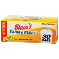 Blain's Farm & Fleet 13 Gallon Drawstring Tall Kitchen Bags from Blain's Farm and Fleet