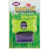 Cadet Green Waste Bag Dispenser & Purple Bags from Blain's Farm and Fleet