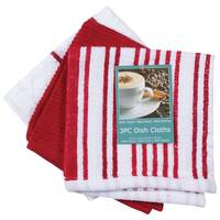 Kay Dee Designs 3 Piece Red Stripe Dish Cloth from Blain's Farm and Fleet