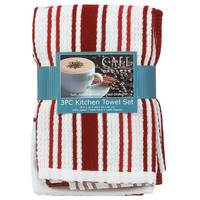 Kay Dee Designs 3 Piece Red Stripe Kitchen Towels from Blain's Farm and Fleet