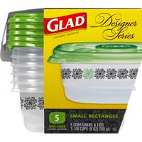 Glad Designer Small Rectangle Food Storage Containers from Blain's Farm and Fleet