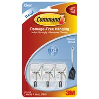 Command Clear Utensil Hooks with Clear Strips from Blain's Farm and Fleet