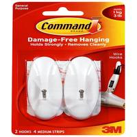 Command Medium Wire Hooks from Blain's Farm and Fleet