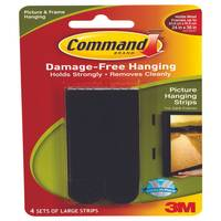 Command Black Picture Hanging Strips from Blain's Farm and Fleet