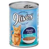 9 Lives Chicken & Tuna Wet Cat Food from Blain's Farm and Fleet