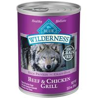 Blue Buffalo Wilderness 12.5 oz Grain Free Beef & Chicken Grill Dog Food from Blain's Farm and Fleet
