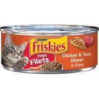 Friskies Prime Filets Chicken & Tuna Dinner In Gravy from Blain's Farm and Fleet