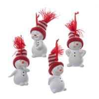 Kurt S. Adler Knit Hat Snowman Ornament Assortment from Blain's Farm and Fleet