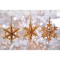 Caffco International Wood Snowflake Ornament Assortment from Blain's Farm and Fleet