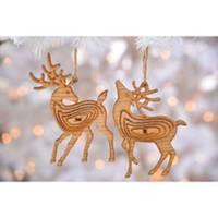 Caffco International Wood Deer Ornament Assortment from Blain's Farm and Fleet