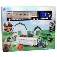 New Ray Country Life Kenworth W900 Semi Truck Trailer Ranch Playset Assortment from Blain's Farm and Fleet