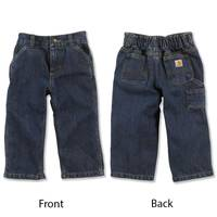 Carhartt Toddler Boy's Worn In Blue Washed Denim Dungarees from Blain's Farm and Fleet