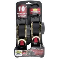 Erickson Manufacturing 10' Retractable Ratchet Tie Down Straps from Blain's Farm and Fleet