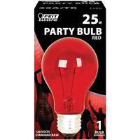 FEIT Electric Red 25W A19 Party Bulb from Blain's Farm and Fleet