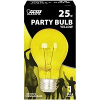 FEIT Electric 25 Watt Incandescent A19 Party Bulb, Yellow from Blain's Farm and Fleet