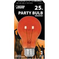 FEIT Electric 25 Watt Incandescent A19 Party Bulb, Orange from Blain's Farm and Fleet