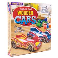 Made By Me Build & Paint Wooden Cars from Blain's Farm and Fleet