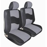 Allison Gray Standard Velour Low Bucket Seat Covers from Blain's Farm and Fleet