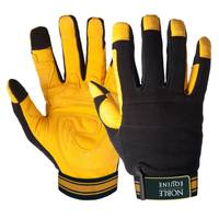 Noble Equine Black and Yellow Outrider Gloves from Blain's Farm and Fleet