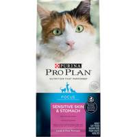 Purina Pro Plan Focus Sensitive Skin & Stomach Lamb & Rice Formula Adult Cat Food from Blain's Farm and Fleet