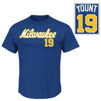 MLB Brewers Yount Road Jersey Cooperstown from Blain's Farm and Fleet